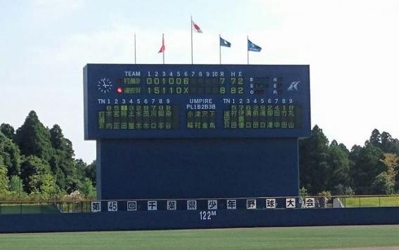 Aチーム : 千葉県少年野球大会(千葉日報旗) 準優勝